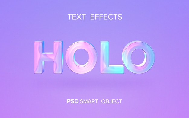 Holographic text effect