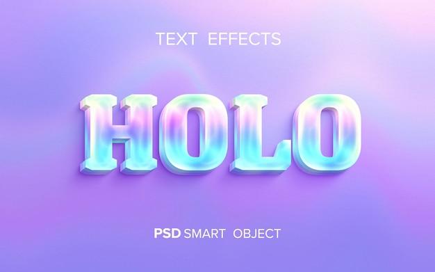 Эффект голографического текста