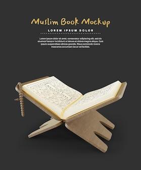 Священный коран для макета исламской книги рамадан карим