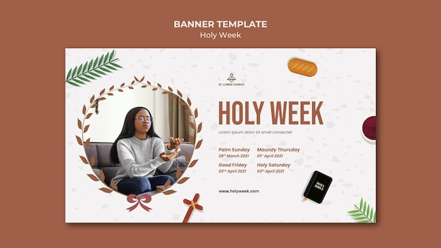 Holy week banner with photo