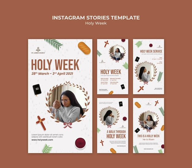 Holy week instagram stories with photo