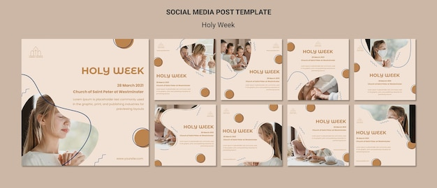 Holy week social media posts
