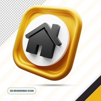 Home 3d rendering icon png
