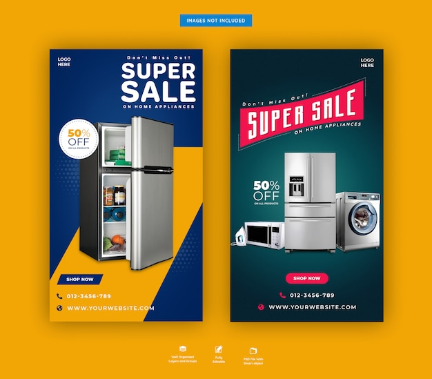 Home accessories instagram stories template