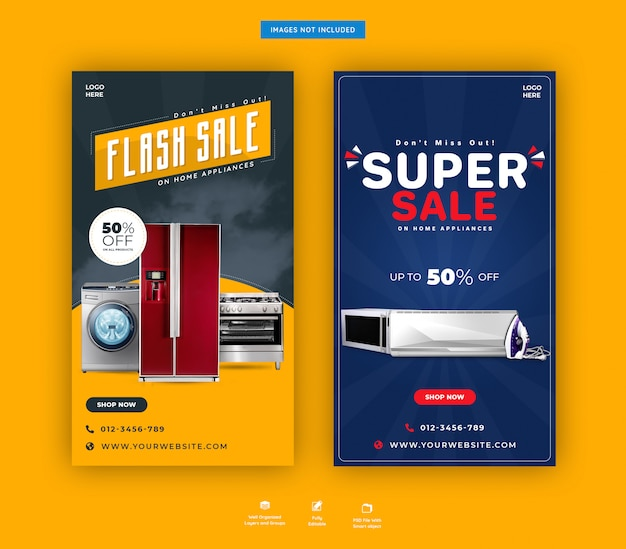 Home accessories super sale instagram stories template