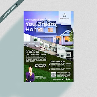 Home brochure cover mockup
