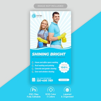 Home cleaning service instagram story template