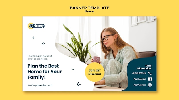 Home discount banner template