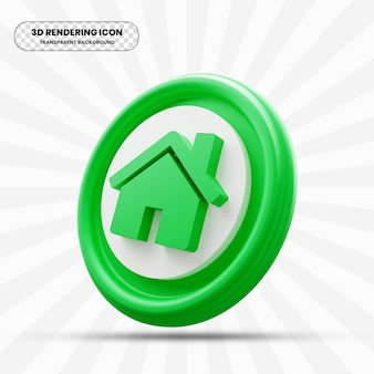 Home icon in 3d rendering