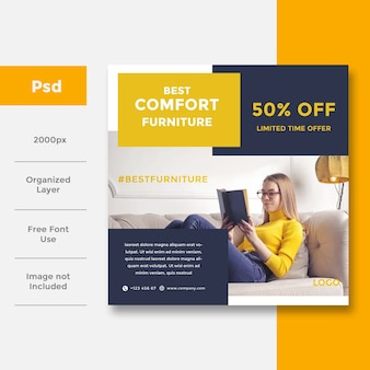 Home interior banner template