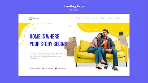 Home is where the story begins landing page
