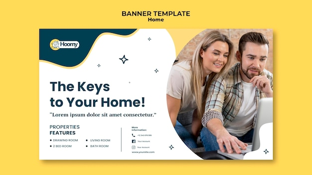 Home sale advertising banner template