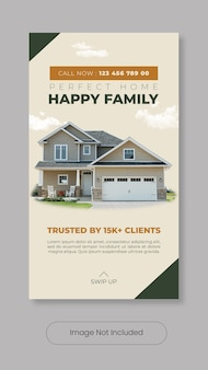 Home for sale instagram stories template banner