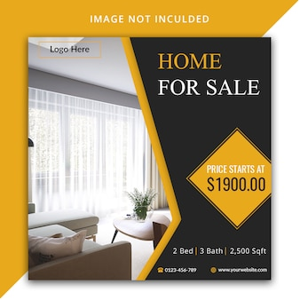 Home for sale social media template