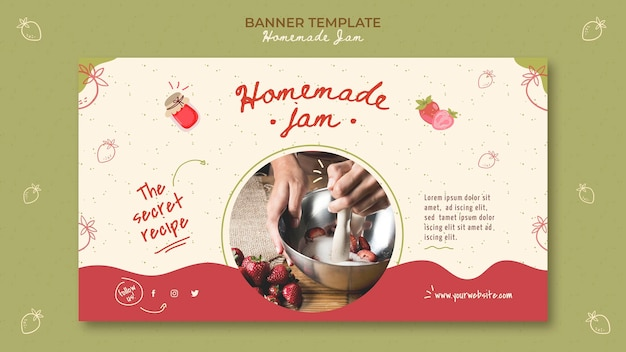 Homemade jam banner template