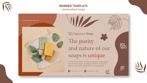 Modello di banner di sapone fatto in casa
