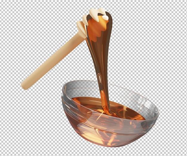 Honey 3d illustration