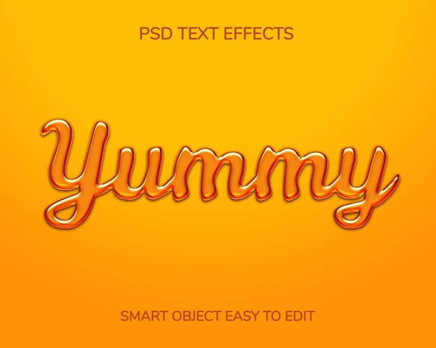 Шаблон медового эффекта стиля текста 3d