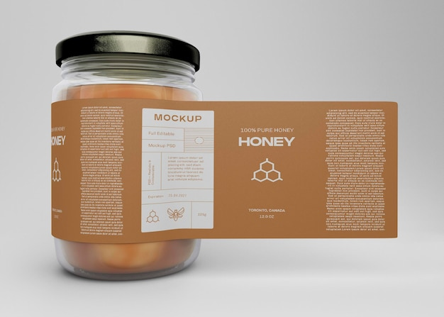 Мокап баночки с медом