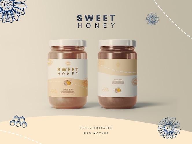 Honey Jars with Label mockup