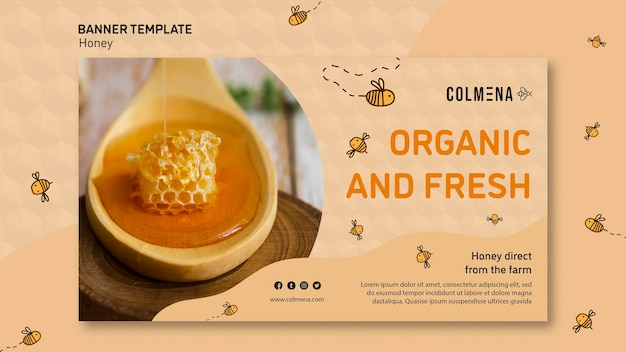 Honey shop ad banner template