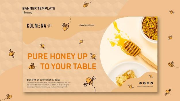 Modello di banner annuncio negozio di miele