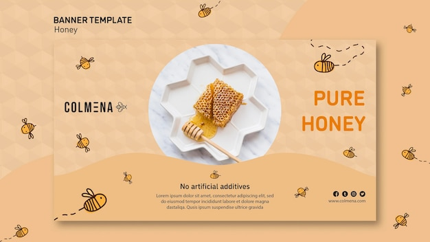 Honey shop ad template banner