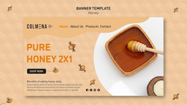 Modello di bandiera del negozio di miele