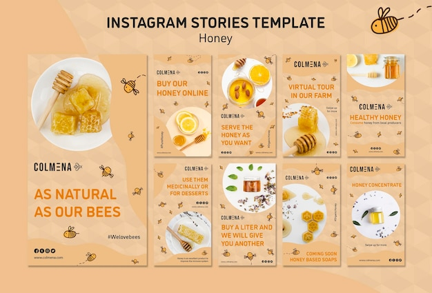 Honey shop instagram stories template