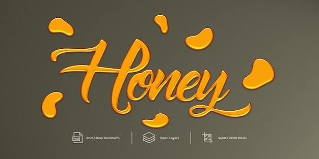 Honey text effect  style effect