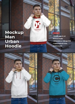 Hoodie mockup for men