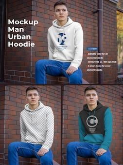 Hoodie mockup for men