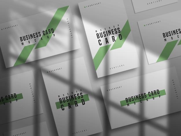Горизонтальный и вертикальный макет визитки