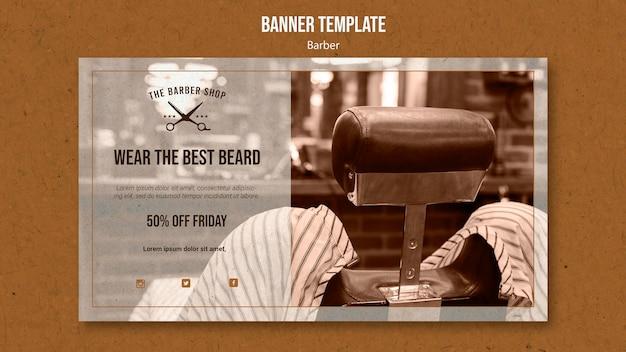 Banner orizzontale per barbiere