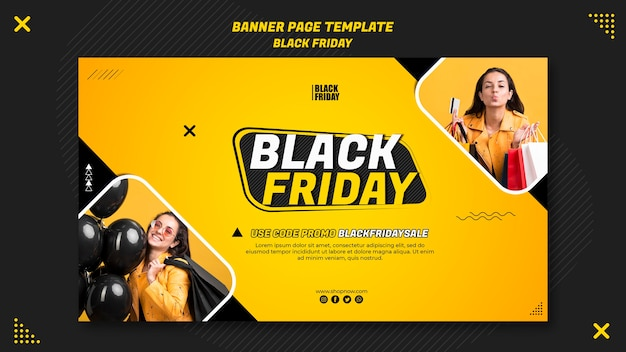 Horizontal banner for black friday clearance
