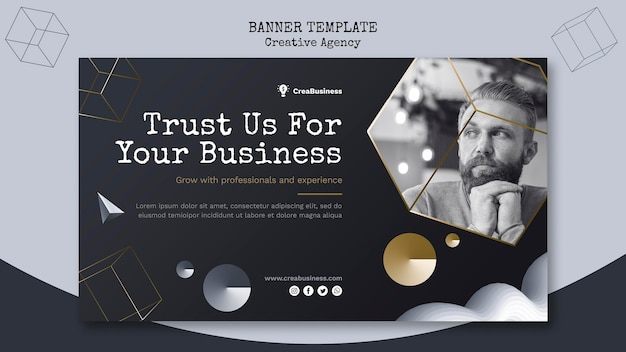 Horizontal banner for business partnering company