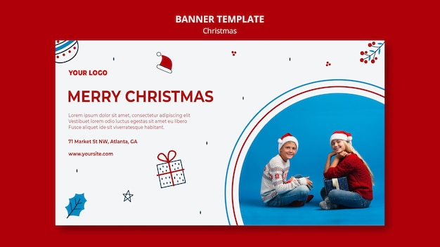 Horizontal banner for christmas