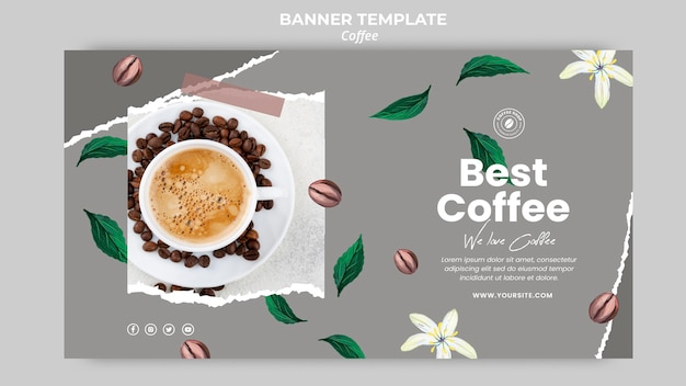 Horizontal banner for coffee