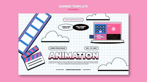 Banner orizzontale per animazione al computer