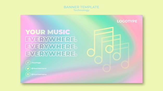 Horizontal banner for electronic technology