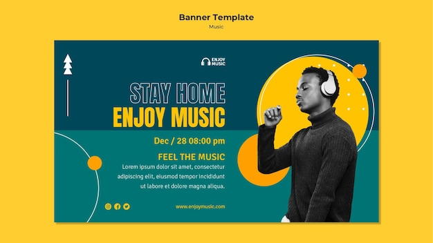 Horizontal banner for enjoying music