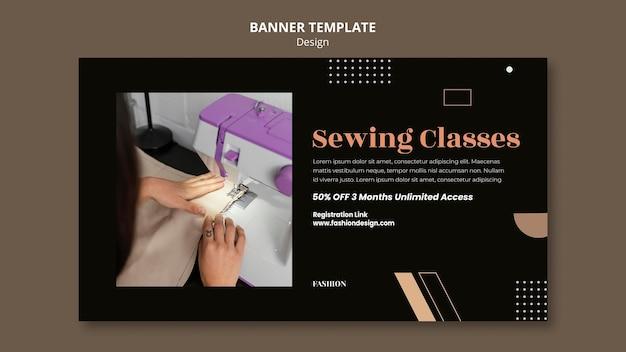 Horizontal banner for fashion designer
