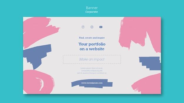 ウェブサイトでポートフォリオをペイントするための水平バナー