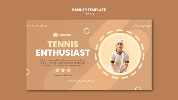 Горизонтальный баннер для игры в теннис