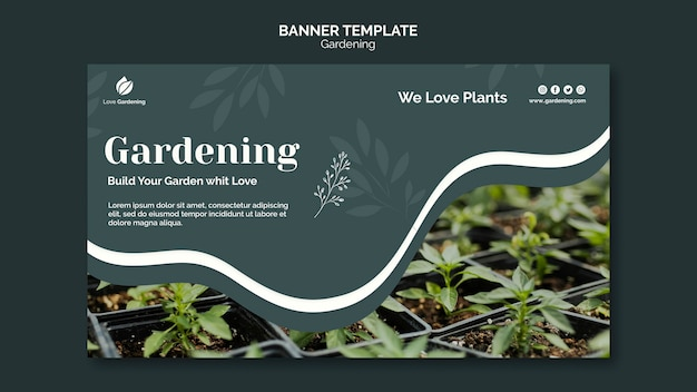 Horizontal banner for gardening