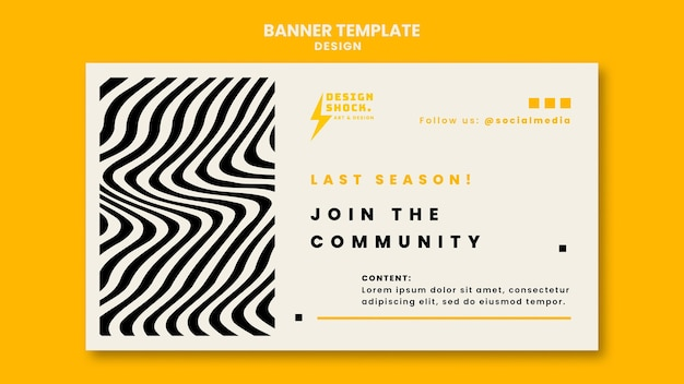 Horizontal banner for graphic design courses