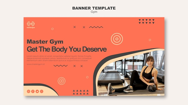 Horizontal banner for gym activity