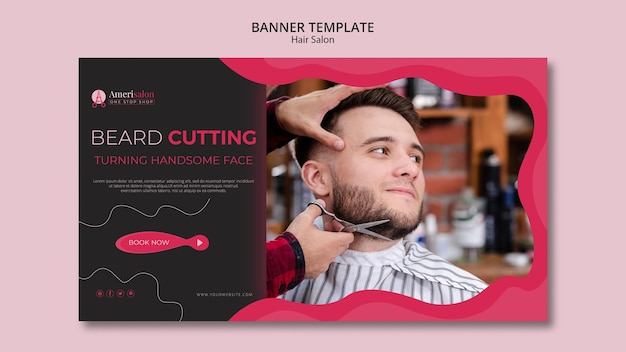 Horizontal banner for hair salon