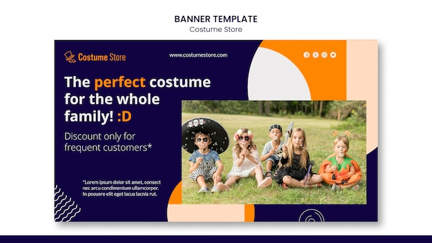 Horizontal banner for halloween costumes