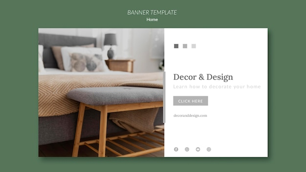 Horizontal banner for home decor and design
